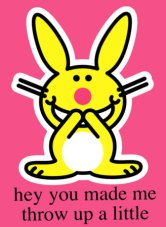 bunny barfing