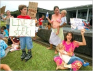 breastfeeding protest hilo library