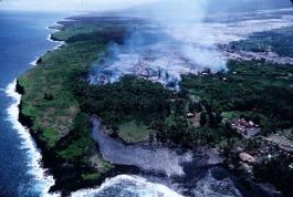 Kalapana lava flow