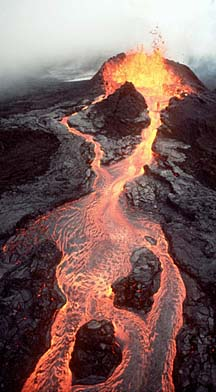 red aa flow kilauea