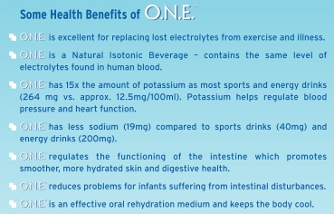 ONE coconut water health benefits