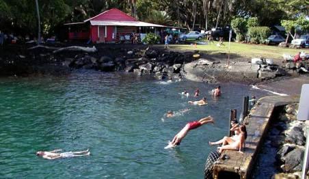 Pohoiki Boat Ramp Swimmers