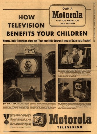 old ad how television benefits children