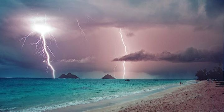 Beach In Storm Lightning: Hawai'i Storm March 2012 Best Picts