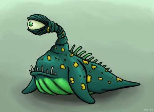 radioactive sea monster