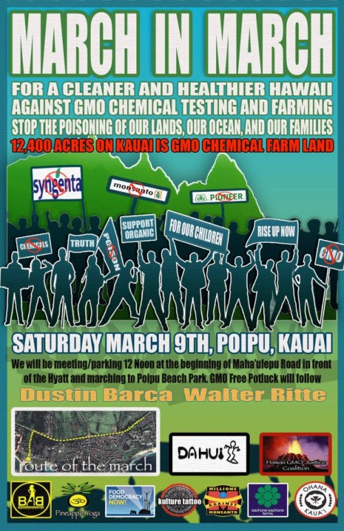 March in March GMO protest kauai hawaii