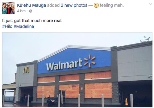 Boarded up Wal Mart Hilo Hawaii Madeline Hurricane